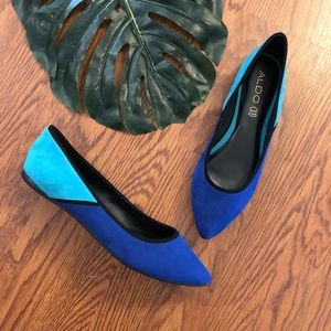 Aldo | NEW Black & Blue Color Block Flats